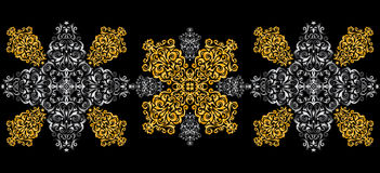 Abstract golden and silver ornament Royalty Free Stock Image