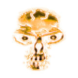 Abstract golden skull Stock Images