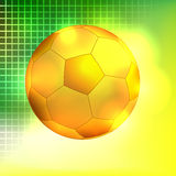 Abstract golden soccer ball background Stock Image