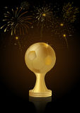 Abstract Golden Soccer Trophy Royalty Free Stock Image