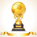 Abstract Golden Soccer Trophy. Vector Illustration Royalty Free Stock Photography