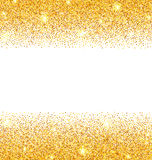 Abstract Golden Sparkles on White Background. Gold Glitter Dust Royalty Free Stock Photos
