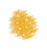 Abstract Golden Sparkles on White Background Royalty Free Stock Image