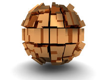 Abstract golden sphere Royalty Free Stock Photo