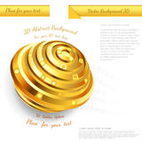 Abstract golden sphere design for your business promotional artwork Royalty Free Stock Images
