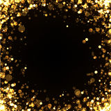 Abstract golden square background. Stock Images