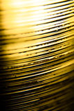 Abstract Golden stack of plastic layers Royalty Free Stock Images