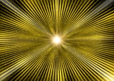 Abstract Golden Star Blast in Outer Space. Abstract image of bright star and sparkles with blast effect in yellow background royalty free stock photo