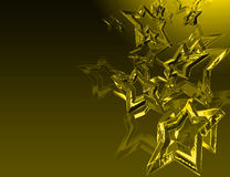 Abstract golden stars Royalty Free Stock Images