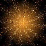 Abstract golden stars whirlpool background Stock Images