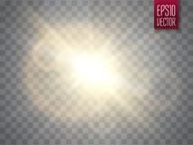 Lens flare . Optic light effect. Vector illustration royalty free illustration
