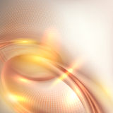 Abstract golden swirl background vector illustration