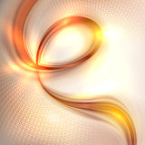 Abstract golden swirl background Stock Photo