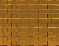 Abstract golden three-dimensional background Royalty Free Stock Image