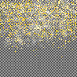 Abstract Golden Transparent Background. Realistic Vector illustr Royalty Free Stock Photography