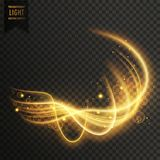 Abstract golden transparent light effect background. Abstract golden transparent light effect vector background stock illustration
