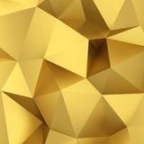 Abstract golden triangle background Stock Photo