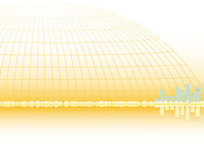 Abstract golden vector background eps8 Stock Image