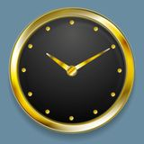 Abstract golden vector clock design Stock Photography