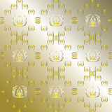 Abstract golden wallpaper Royalty Free Stock Images