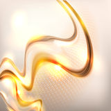 Abstract golden waving background Stock Images