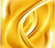 Abstract golden wavy background vector Royalty Free Stock Image
