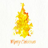 Abstract golden Xmas Tree for Merry Christmas. Royalty Free Stock Photography