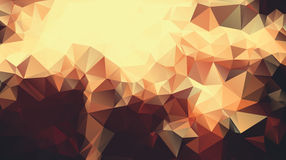 Abstract golden yellow background consisting of triangles. Vector art Stock Photography
