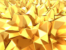 Abstract Goldenpolygon texture background. 3d render illustration royalty free illustration