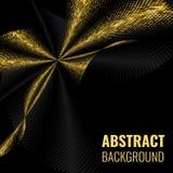 Abstract goldet halftone geometric background. Vector illustration Stock Image