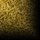 Abstract goldet halftone geometric background. Vector illustration Stock Images