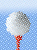 Abstract golf ball Royalty Free Stock Image