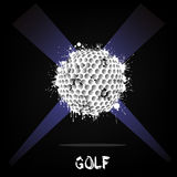 Abstract golf ball of ink blots Stock Photography