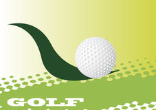 Abstract golf banner. Abstract vector illustration Royalty Free Stock Image