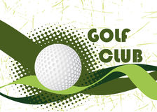 Abstract golf club banner Stock Photo