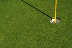 Abstract of Golf Green & Pin Royalty Free Stock Images