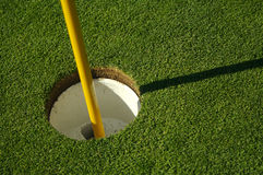Abstract of Golf Green & Pin Stock Images
