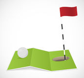 Abstract golf icon. Vector illustration Royalty Free Stock Photo