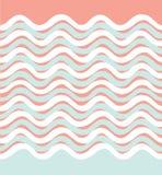 Abstract golf naadloos patroon Golvende geometrische achtergrond Stock Foto