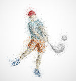 Abstract golf player. Kick the ball. Eps 10 Royalty Free Stock Photo