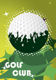 Abstract golf poster. Vector illustration Stock Image