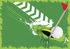 Abstract golf splash Royalty Free Stock Images
