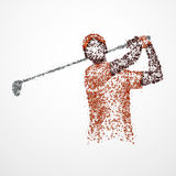 Abstract, golfer, athlete Royalty Free Stock Photo