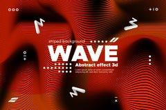 Abstract Golfmalplaatje met 3d Effect vector illustratie