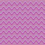 Abstract golvend gestreept patroon in purple, roze, tan kleuren vector illustratie
