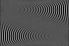 Abstract golvend lijnenontwerp Vector Illustratie