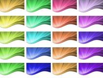 Abstract golvend Vectorontwerp als achtergrond royalty-vrije illustratie