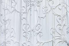 Abstract gordijn en kooi het patroonontwerp van het metaalstaal op achtergrond Stock Afbeelding