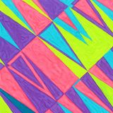 Abstract gouache geometric background vector illustration