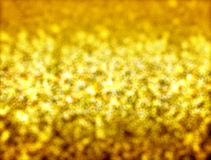 Abstract goud bokeh Royalty-vrije Stock Afbeelding